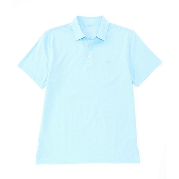 サウザーンタイド メンズ ポロシャツ トップス Pecan Grove Jacquared Short-Sleeve Polo Shirt Ocean Channel