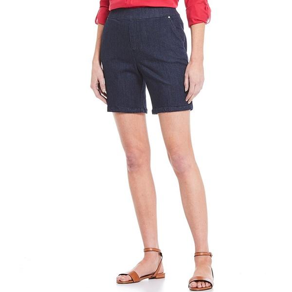 イントロ レディース カジュアルパンツ ボトムス Rose Stretch Pull-On Denim Shorts Freedom Dark Wash