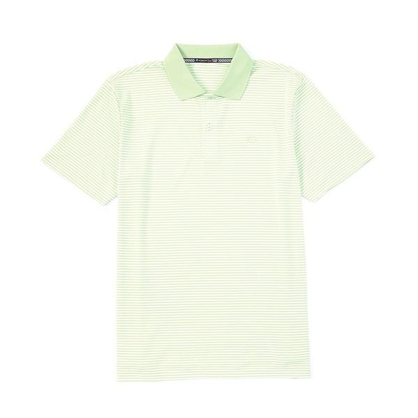 サウザーンタイド メンズ ポロシャツ トップス Roster Stripe Performance Stretch Short-Sleeve Polo Shirt Seaweed Green