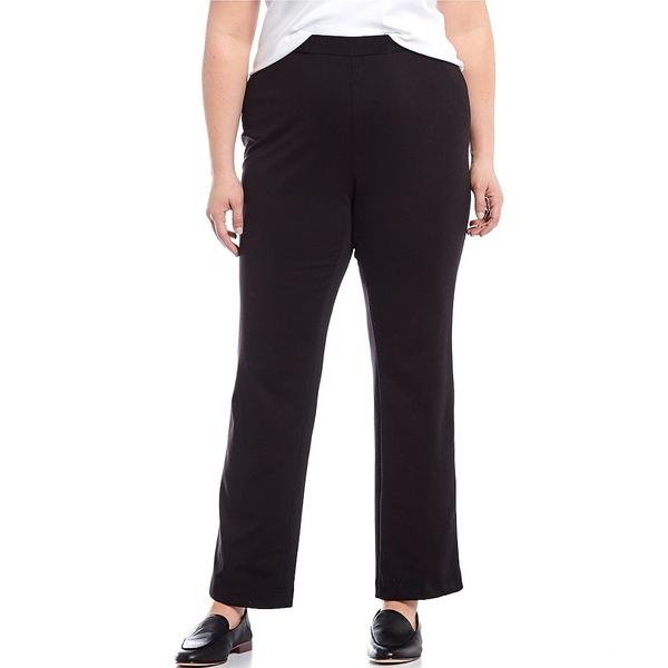 アリソンダーレイ レディース カジュアルパンツ ボトムス Plus Size San Remo Knit Straight Leg Pull-On Pants Black