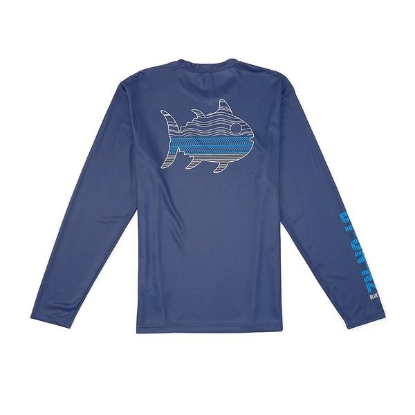サウザーンタイド メンズ Tシャツ トップス By On N2 Performance Stretch Long-Sleeve Recycled Materials Tee Blue Night