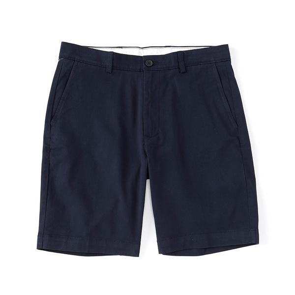 ランドツリーアンドヨーク メンズ ハーフ&ショーツ ボトムス Big & Tall 9#double; and 11#double; Inseam Flat Front Washed Chino Shorts Navy