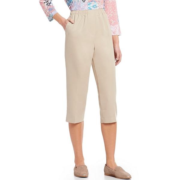 アリソンダーレイ レディース カジュアルパンツ ボトムス Petites Pull-On Capri Pants Light Khaki