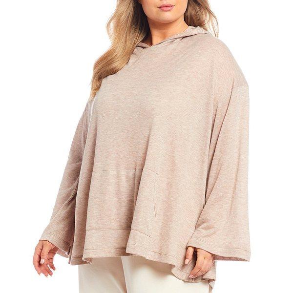 ブリンウォーカー レディース Tシャツ トップス Plus Size Hooded Tunic Sand