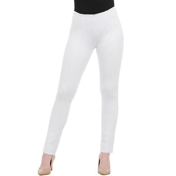 ピーターニガード レディース カジュアルパンツ ボトムス SLIMS Luxe Ponte Jacquard Ankle Pull-On Pant White