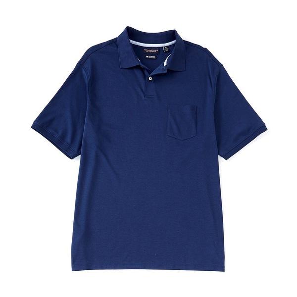 ランドツリーアンドヨーク メンズ シャツ トップス Big & Tall Short-Sleeve Supima Solid Polo Midnight Blue