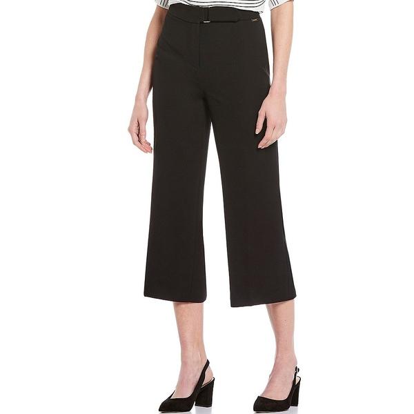 ティー・タハリ レディース カジュアルパンツ ボトムス Wide Leg Soft Crepe Self Belt Crop Pant Black