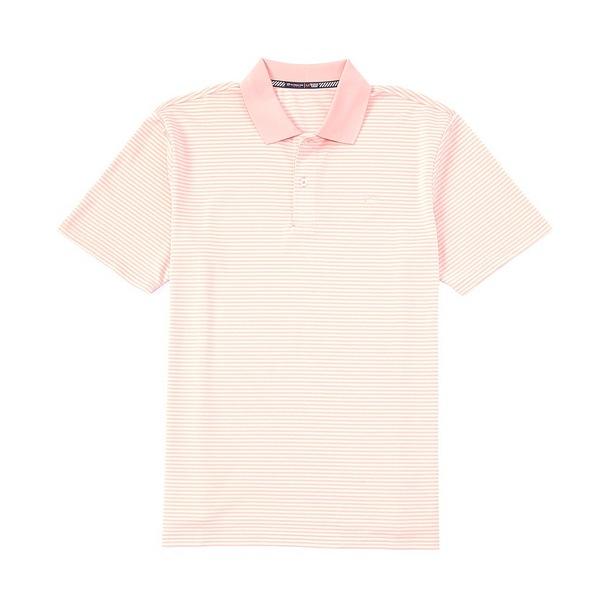 サウザーンタイド メンズ ポロシャツ トップス Roster Stripe Performance Stretch Short-Sleeve Polo Shirt Fresco Pink