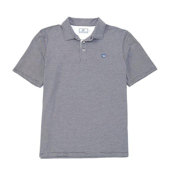 サウザーンタイド メンズ ポロシャツ トップス Channel Marker Stripe Short-Sleeve Polo Shirt True Navy