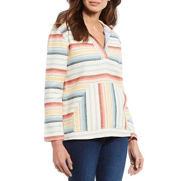 ペンドルトン レディース ニット&セーター アウター Surf Stripe Cotton Chamois Hooded Long Sleeve Pullover Natural Multi Serape