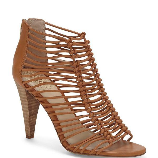ヴィンスカムート レディース サンダル シューズ Alsandra Caged Leather Dress Sandals Brick