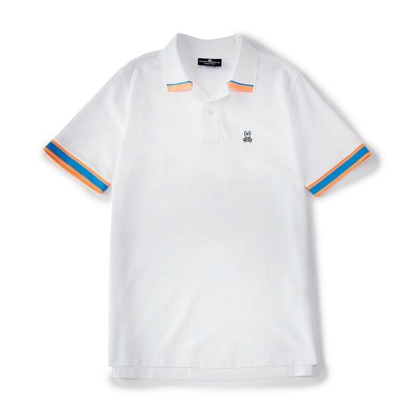 サイコバニー メンズ ポロシャツ トップス Rutland Short-Sleeve Polo Shirt White