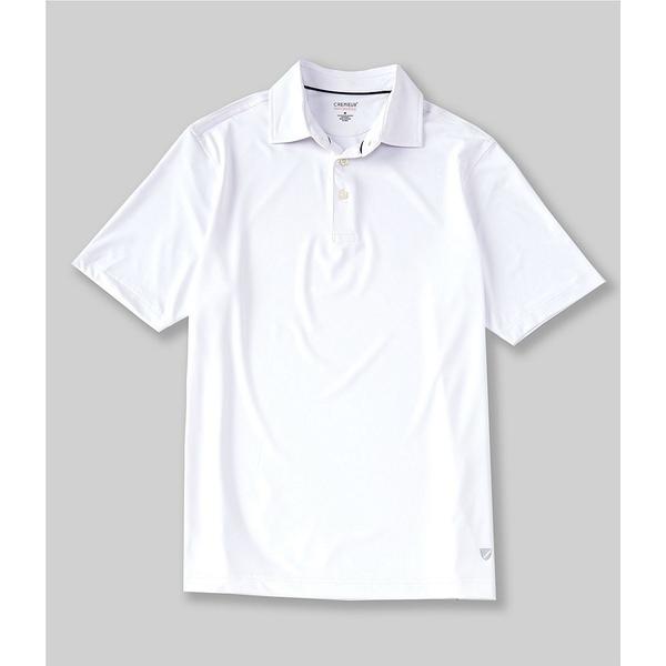 クレミュ メンズ ポロシャツ トップス Performance Solid Heather Short-Sleeve Polo Shirt Whiteness