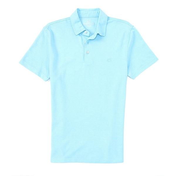 サウザーンタイド メンズ ポロシャツ トップス Pecan Grove Jacquared Short-Sleeve Polo Shirt Aegean Blue