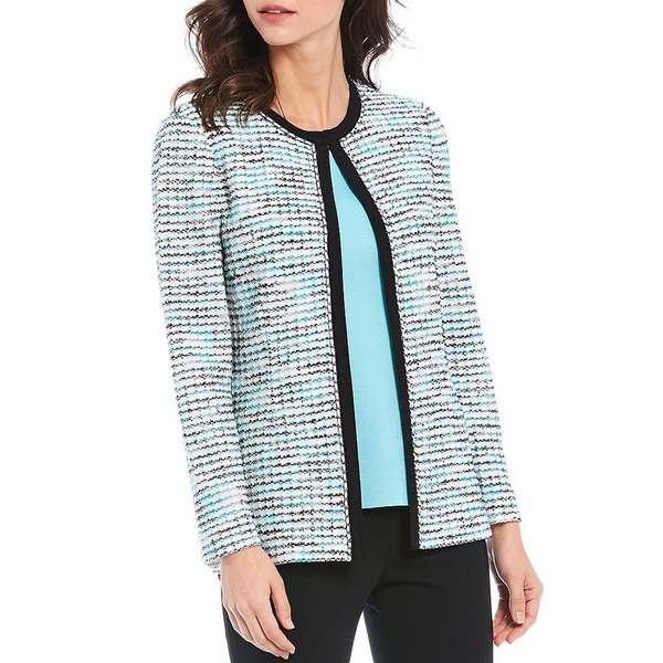 ミソーク レディース ジャケット&ブルゾン アウター Long Sleeve Chain Knit Trim Jacket White/Multi