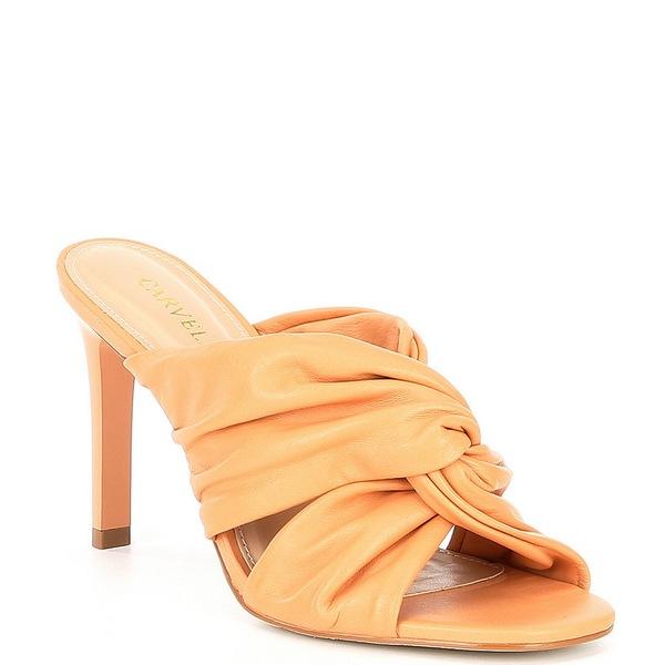 カーベラ・カート・ジェイガー レディース サンダル シューズ Guava Leather Knotted Dress Slides Orange