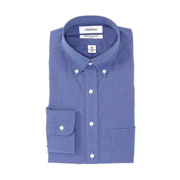 クレミュ メンズ シャツ トップス Non-Iron Classic Fit Button-Down Collar Dress Shirt Navy