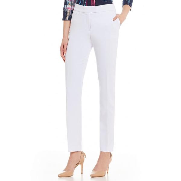 インベストメンツ レディース カジュアルパンツ ボトムス Petite Size the 5TH AVE fit Straight Leg Pant White
