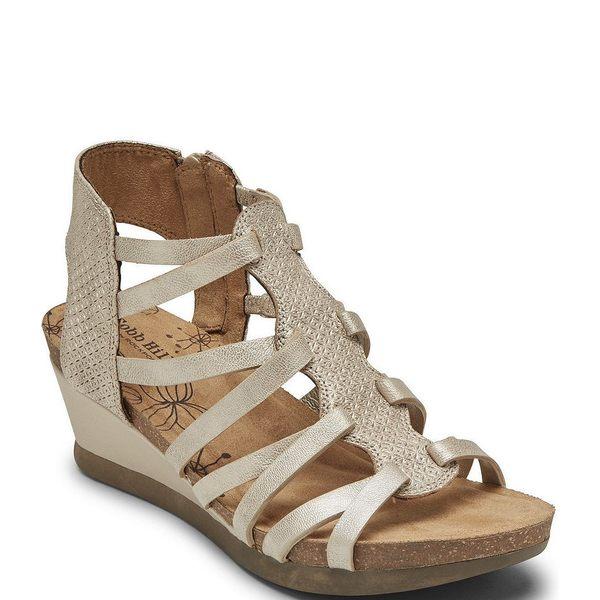 ロックポート レディース サンダル シューズ Cobb Hill Shona T-Strap Slingback Sandals Metallic
