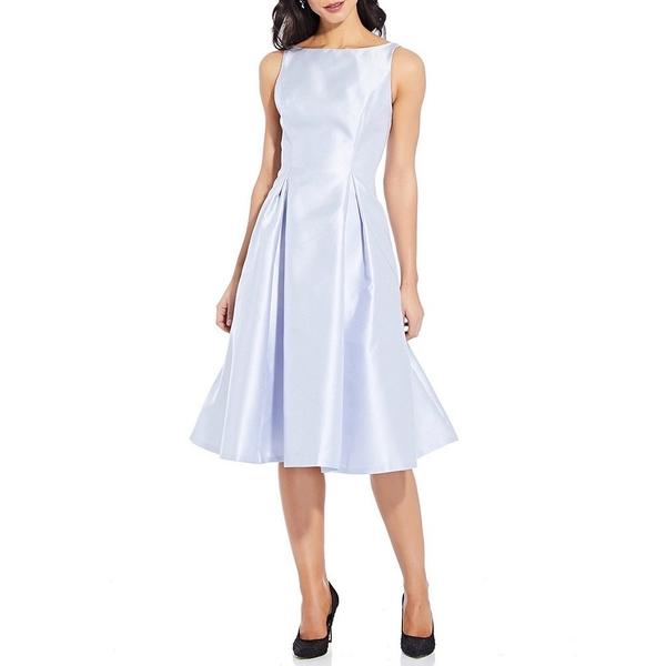アドリアナ パペル レディース ワンピース トップス Sleeveless Midi Taffeta Dress Light Blue