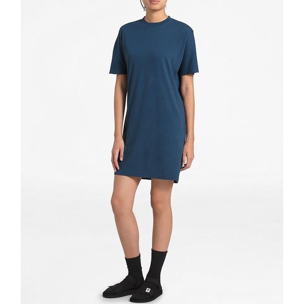 ノースフェイス レディース ワンピース トップス Woodside Hemp T-Shirt Dress Shady Blue