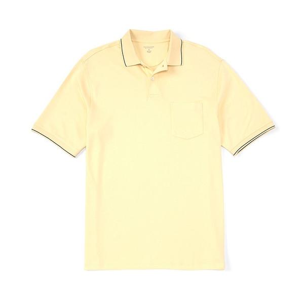 ランドツリーアンドヨーク メンズ ポロシャツ トップス Short-Sleeve Solid Pocket Polo Light Yellow
