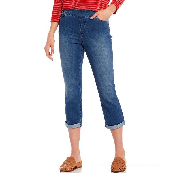 ウェストボンド レディース カジュアルパンツ ボトムス Petite Size the HIGH RISE fit Crop Pant Medium Blue