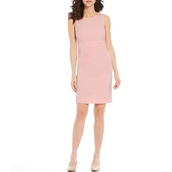 カスパー レディース ワンピース トップス Petite Size Sleeveless Sheath Dress Tutu Pink