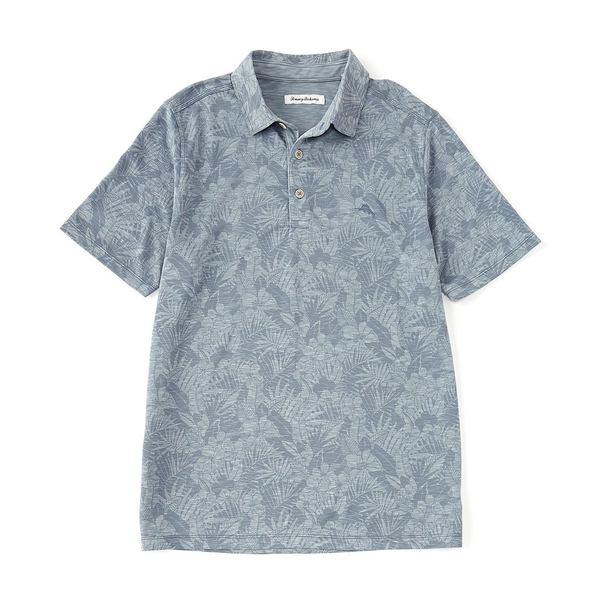 トッミーバハマ メンズ ポロシャツ トップス Palmetto Palms Short-Sleeve Polo Shirt Sail Fish