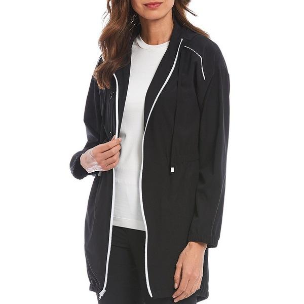 ジョーンズニューヨーク レディース ジャケット&ブルゾン アウター Hooded Long Sleeve Drop Shoulder Travel Jacket Black