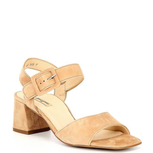 ポール・グリーン レディース サンダル シューズ Cindy Leather Square Toe Sandals Beige