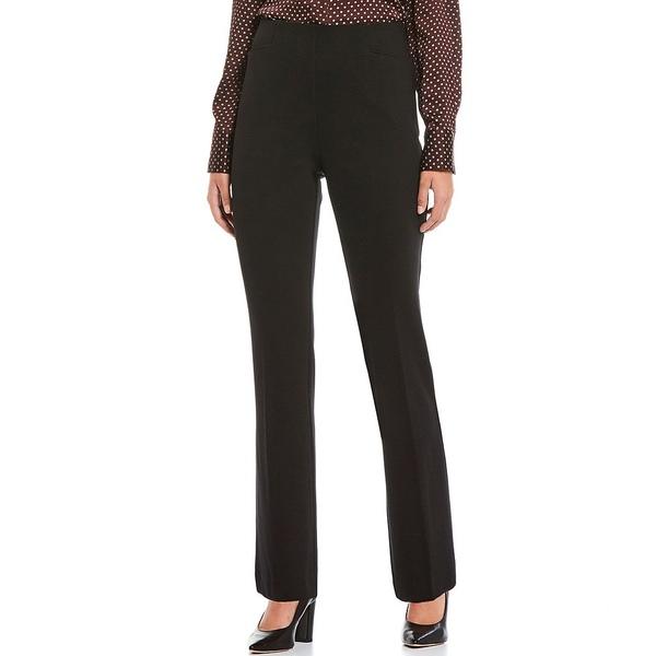 インベストメンツ レディース カジュアルパンツ ボトムス Petite Size the REGENT fit Pull-On Straight Leg Pants Black