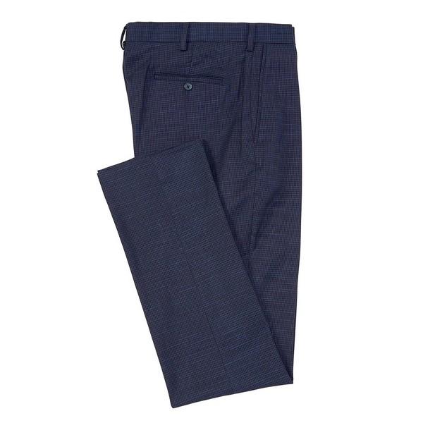 ランドツリーアンドヨーク メンズ カジュアルパンツ ボトムス Big & Tall TravelSmart Fancy Pattern Flat Front Dress Pants Blue