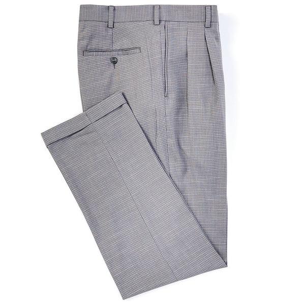 ランドツリーアンドヨーク メンズ カジュアルパンツ ボトムス TravelSmart Fancy Pattern Pleated Dress Pants Grey