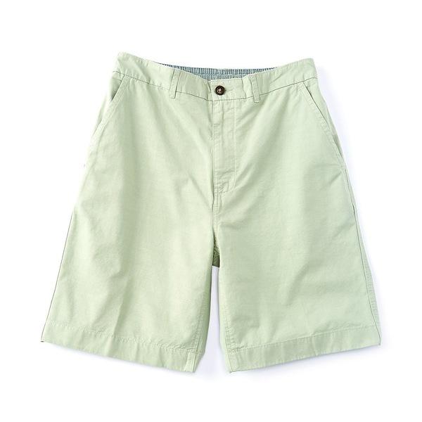カリビーン メンズ ハーフ&ショーツ ボトムス Flat-Front 9#double; Inseam Shorts Green