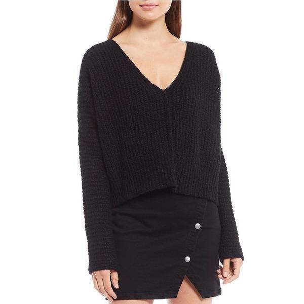 フリーピープル レディース ニット&セーター アウター Moonbeam Alpaca V-Neck Crop Sweater Black