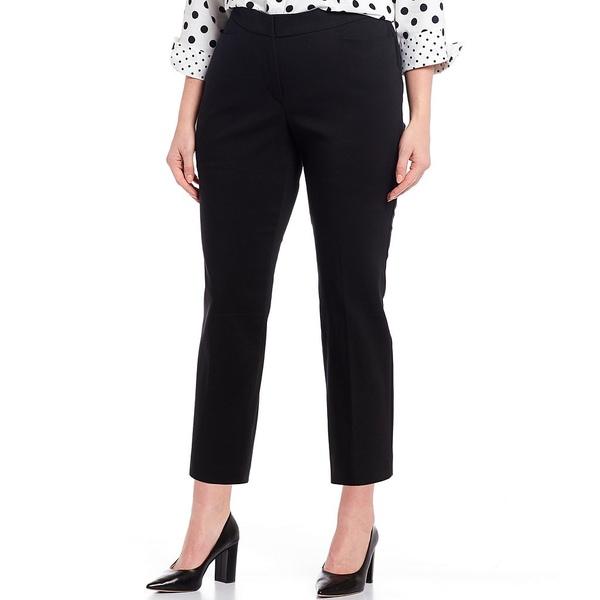 インベストメンツ レディース カジュアルパンツ ボトムス Plus Size the 5th AVE fit Elite Stretch Crop Pant Black