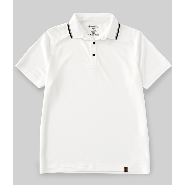 ベレッタ メンズ ポロシャツ トップス Chill Short-Sleeve Polo Shirt White