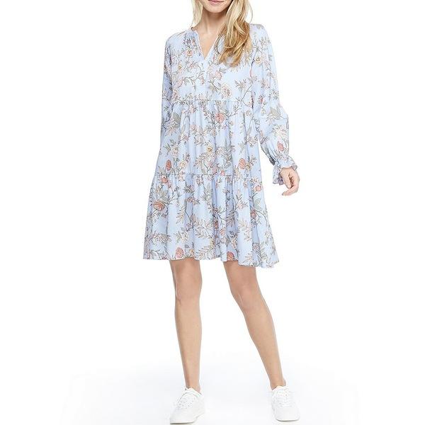 ギャルミーツグラムコレクション レディース ワンピース トップス Allie Tiered Floral Print Shift Dress Mist/Green