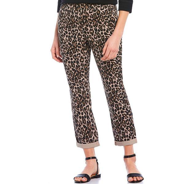 ウェストボンド レディース カジュアルパンツ ボトムス Petite Size the HIGH RISE fit Crop Pants Animal