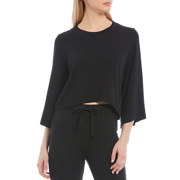 アントニオメラニー レディース Tシャツ トップス Spell Bound 3/4 Sleeve Cropped Top Black