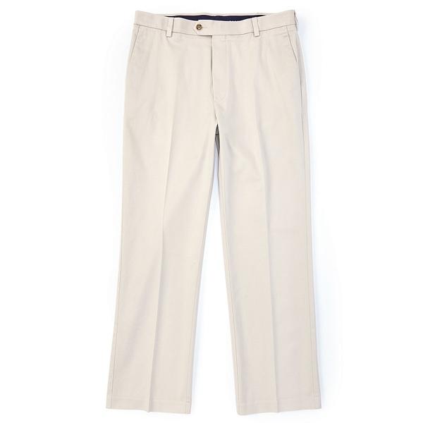 ランドツリーアンドヨーク メンズ カジュアルパンツ ボトムス TravelSmart CoreComfort Big & Tall Flat-Front Classic Relaxed Fit Chino Pants Stone