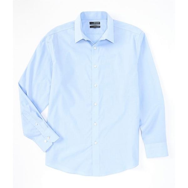 ムラノ メンズ シャツ トップス Big & Tall Wardrobe Essentials Solid Long-Sleeve Woven Shirt Light Blue