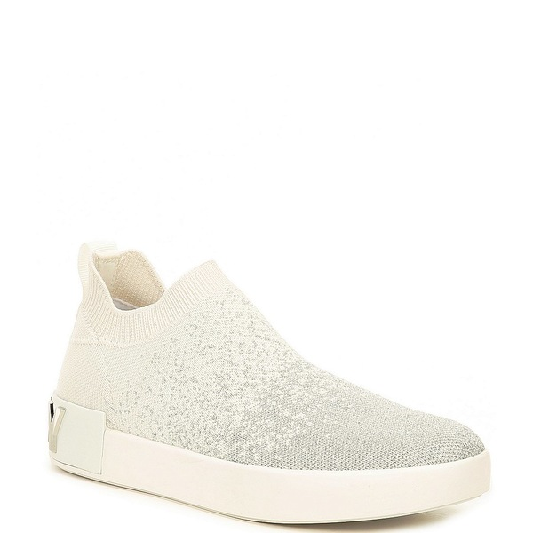 ダナ キャラン ニューヨーク レディース スニーカー シューズ Sayda Fly Knit Sock Ombre Sneakers Silver/White