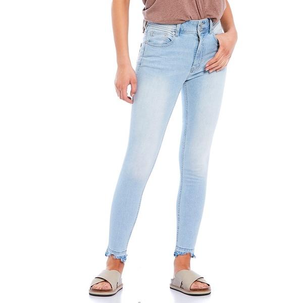 フリーピープル レディース デニムパンツ ボトムス Wild Child Raw Hem High Rise Ankle Skinny Jeans Havana Blue