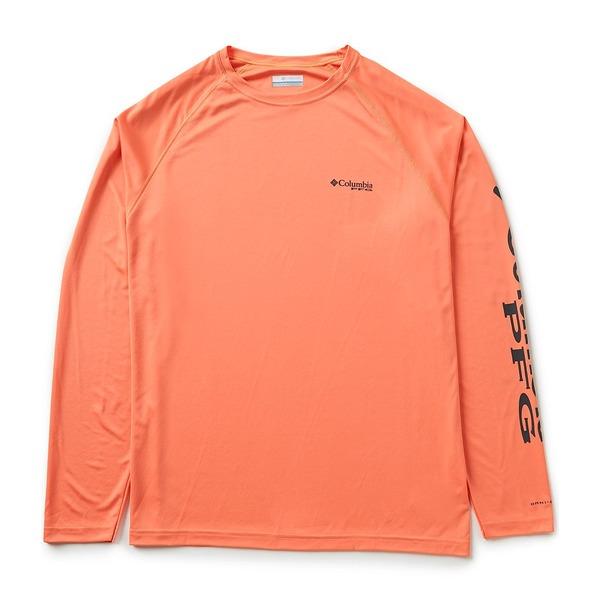 コロンビア メンズ Tシャツ トップス PFG Terminal Tackle Long-Sleeve Rashguard Tee Bright Peach/Grill