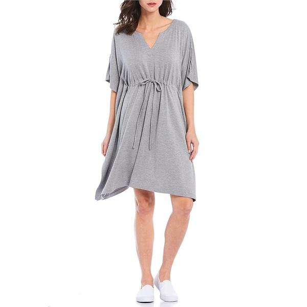 トッミーバハマ レディース ワンピース トップス Island Soft Sea Coast Caftan Dress Fossil Grey