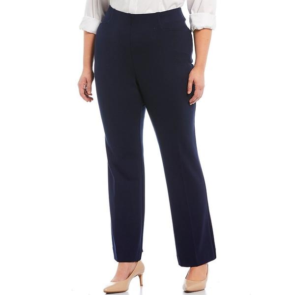 インベストメンツ レディース カジュアルパンツ ボトムス Plus Size the REGENT ST fit Pull-On Straight Leg Pants Dark Navy
