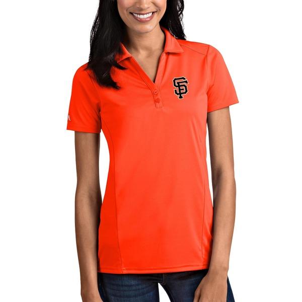 アンティグア レディース ポロシャツ トップス San Francisco Giants Antigua Women's Tribute Polo Orange