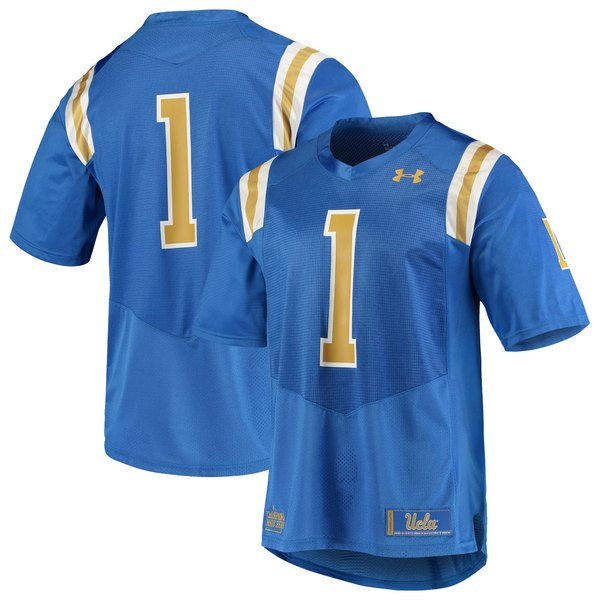 アンダーアーマー メンズ ユニフォーム トップス #1 UCLA Bruins Under Armour Team Replica Football Jersey Blue